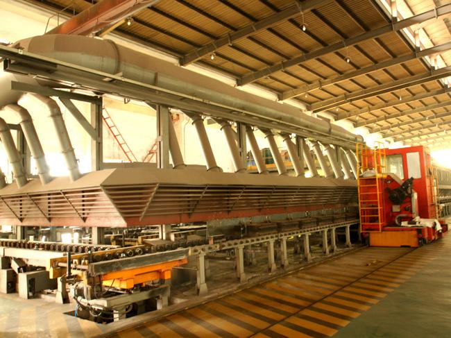 半自动铁模覆砂生产线